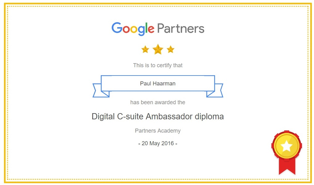 Google AdWords c suite ambassador